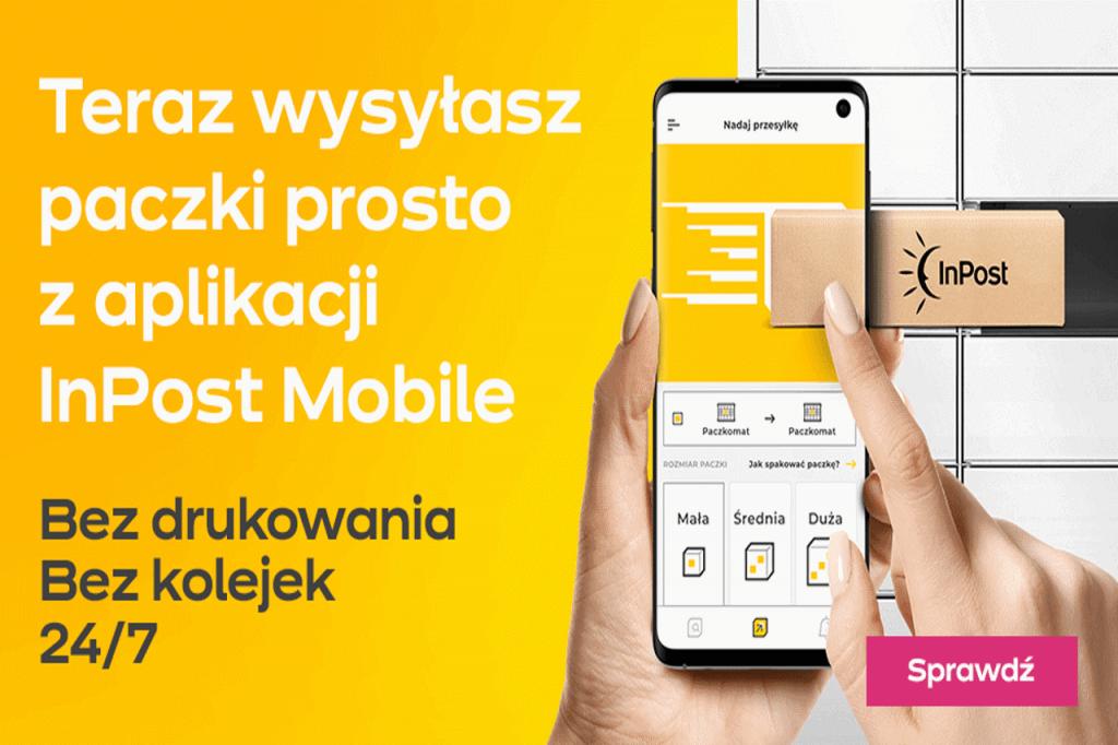 Wysyłaj paczki bez etykiety z aplikacją InPost Mobile!